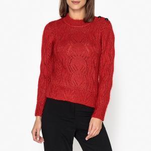 Пуловер с круглым вырезом NUMA BA&SH. Цвет: красный меланж