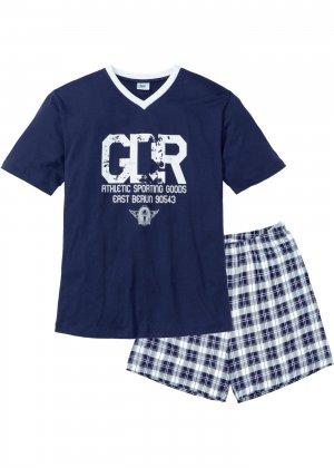 Пижама с шортами bonprix. Цвет: синий