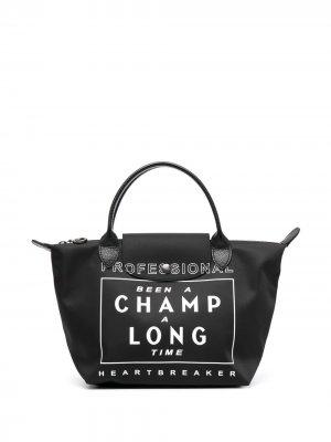 Маленькая сумка-тоут Le Pliage Collection Longchamp. Цвет: черный