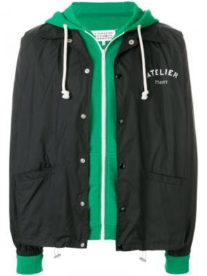 Куртка-бомбер с логотипом Maison Margiela