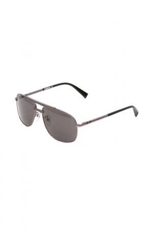 Очки солнцезащитные Baldinini. Цвет: серебристый, серный