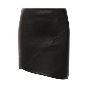 Кожаная юбка Iro. Цвет: чёрный