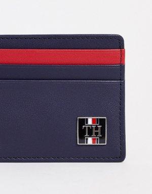 Темно-синяя визитница с логотипом -Темно-синий Tommy Hilfiger