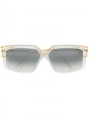 Солнцезащитные очки в прямоугольной оправе Cazal. Цвет: золотистый