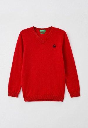 Пуловер United Colors of Benetton. Цвет: красный