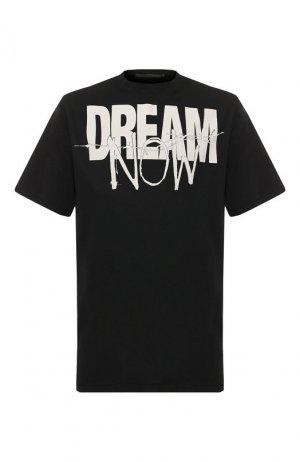 Хлопковая футболка Haider Ackermann. Цвет: черно-белый