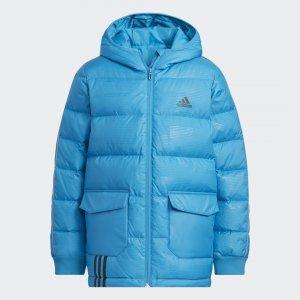 Утепленная куртка Sportswear adidas. Цвет: синий
