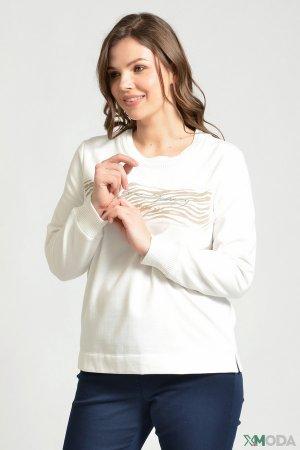 Пуловер Via Appia. Цвет: белый