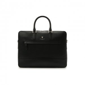 Кожаная сумка для ноутбука Aspinal of London. Цвет: чёрный