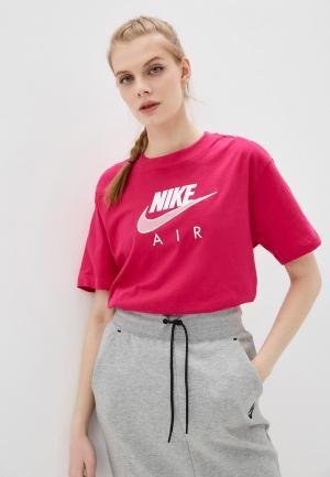 Футболка Nike W NSW AIR BF TOP. Цвет: розовый