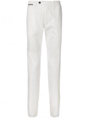 Классические брюки кроя слим Eleventy. Цвет: белый