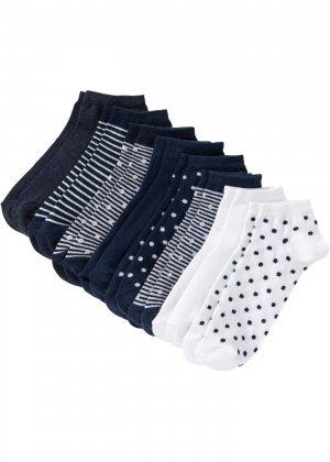 Носки короткие (8 пар) bonprix. Цвет: синий