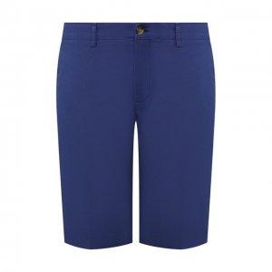 Хлопковые шорты Canali. Цвет: синий