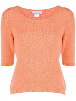 Пуловер с короткими рукавами Avant Toi. Цвет: оранжевый