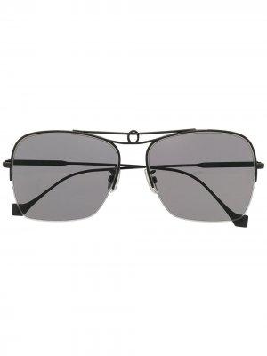 Солнцезащитные очки-авиаторы LW40024U LOEWE. Цвет: черный