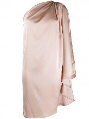 Платье-туника на одно плечо Gianluca Capannolo. Цвет: нейтральные цвета