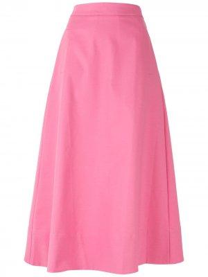 Расклешенная юбка миди Bromélia Eva. Цвет: розовый