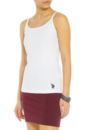 Майка U.S. Polo Assn.. Цвет: белый