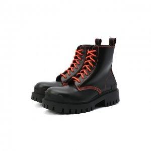 Кожаные ботинки 20 мм Strike Balenciaga. Цвет: чёрный
