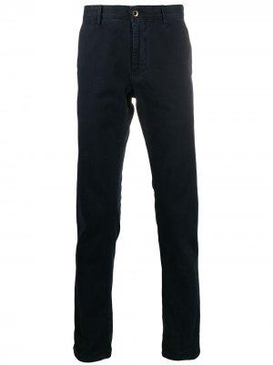 Узкие брюки чинос Incotex. Цвет: синий