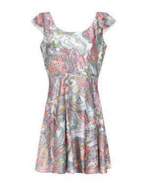 Короткое платье RENE' DERHY. Цвет: белый