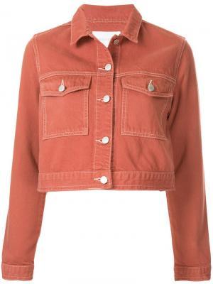 Укороченная джинсовая куртка Hunter Nobody Denim. Цвет: желтый