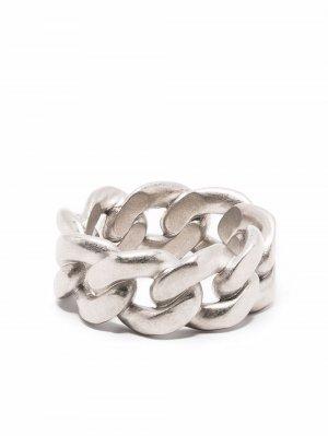Массивное серебряное кольцо Chain Maison Margiela. Цвет: серебристый