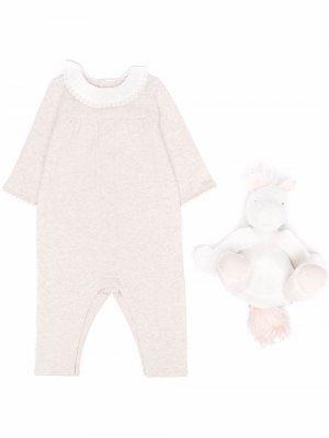 Pyjama and plush toy set Chloé Kids. Цвет: нейтральные цвета