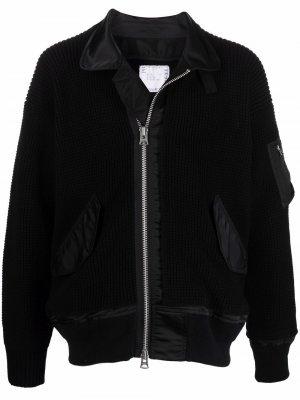 Zipped-up bomber jacket Sacai. Цвет: черный