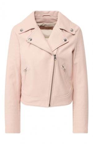 Кожаная куртка Yves Salomon. Цвет: розовый