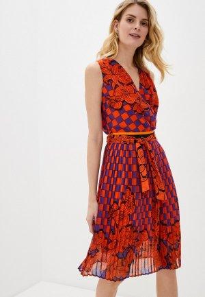 Платье Silvian Heach. Цвет: красный