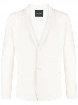 Однобортный пиджак Roberto Collina. Цвет: белый