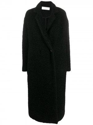 Фактурное пальто оверсайз Société Anonyme. Цвет: черный
