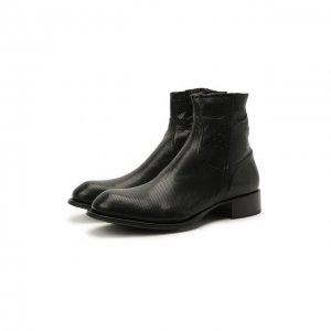 Кожаные сапоги Rocco P.. Цвет: чёрный