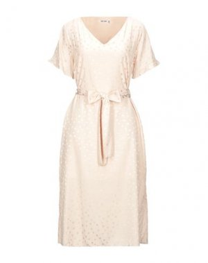 Платье миди DRY LAKE.. Цвет: пудровый
