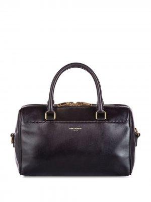 Дорожная сумка с логотипом Yves Saint Laurent Pre-Owned. Цвет: черный