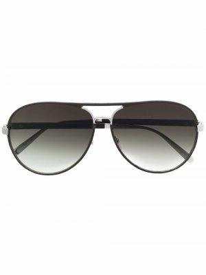 Солнцезащитные очки-авиаторы Salvatore Ferragamo. Цвет: коричневый