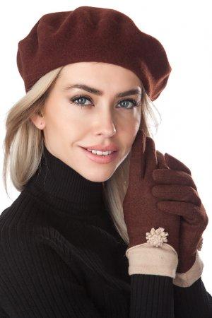 Комплект: берет, перчатки Tonak. Цвет: коричневый