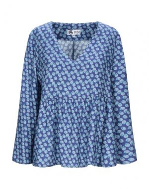 Блузка BINI Como. Цвет: синий