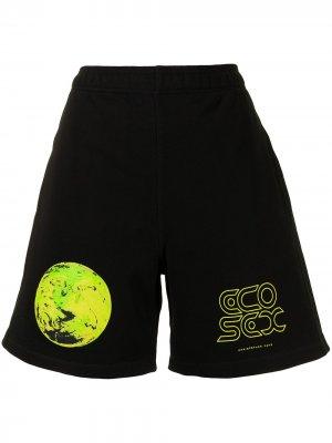 Спортивные шорты с графичным принтом Christopher Kane. Цвет: черный