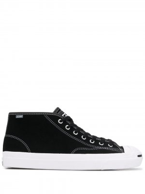 Contrast-stitch mid-top sneakers Converse. Цвет: черный