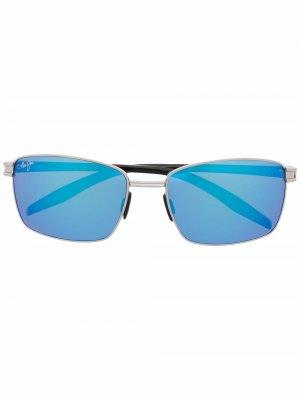 Солнцезащитные очки в квадратной оправе Maui Jim. Цвет: черный