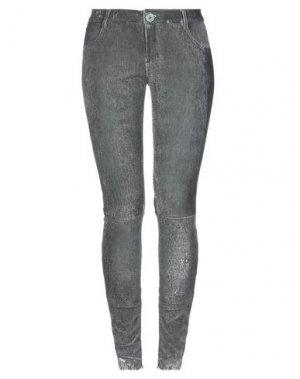 Повседневные брюки 10SEI0OTTO. Цвет: стальной серый