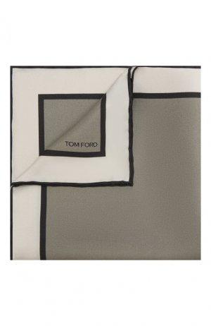 Шелковый платок Tom Ford. Цвет: серый