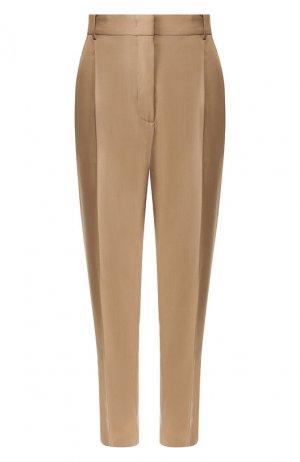 Шерстяные брюки No. 21. Цвет: бежевый