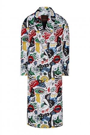 Пальто с разноцветным принтом Chapurin. Цвет: multicolor