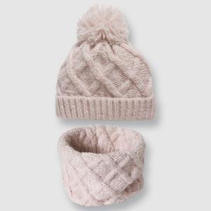 Комплект из шапочки и шарфа LA REDOUTE COLLECTIONS. Цвет: розовый,серый