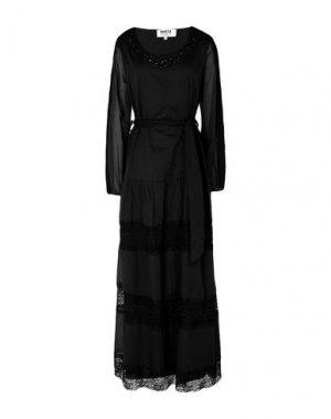 Длинное платье MARTA STUDIO. Цвет: черный