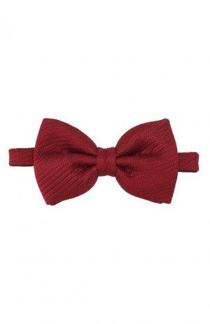 Шелковый галстук-бабочка Brioni. Цвет: красный