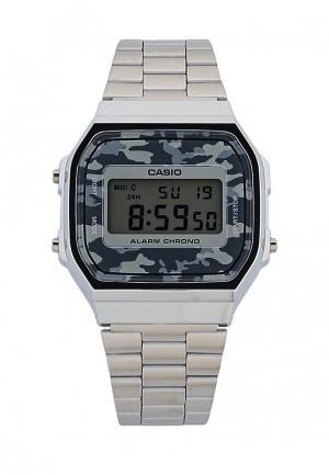 Часы Casio Collection A-168WEC-1E. Цвет: серебряный